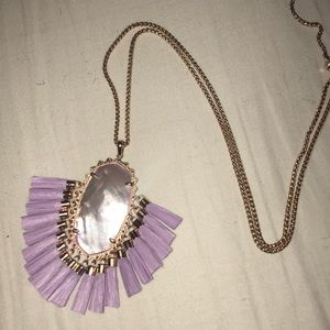 Kendra Scott Betsy Necklace Lilac Mother of Pearl
